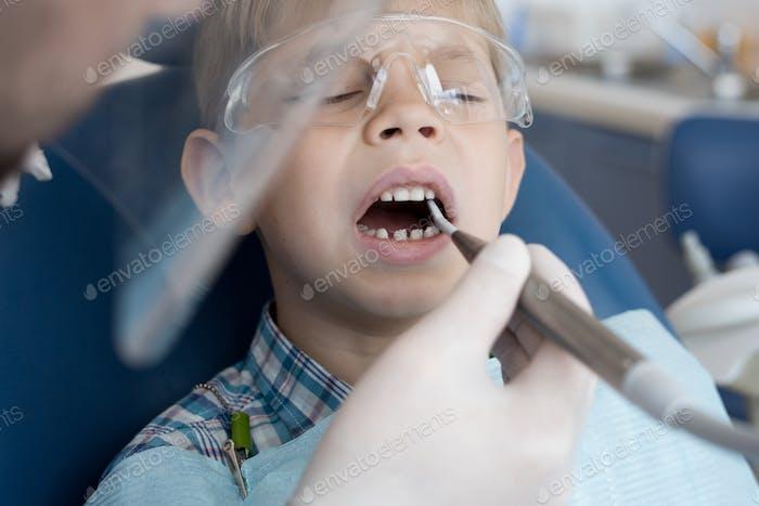 Little Boy at Dental Treatment