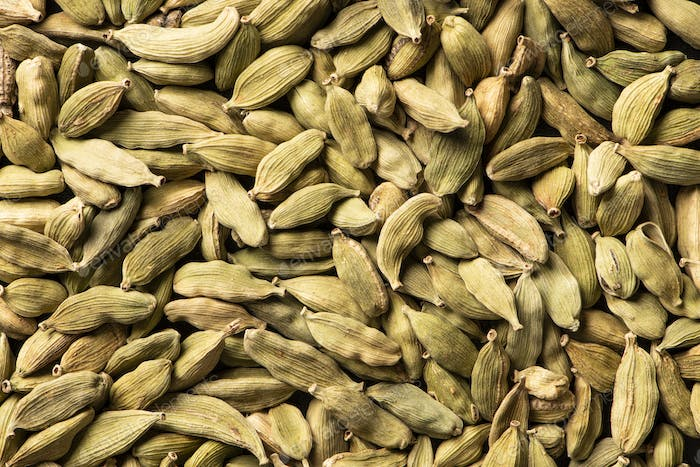 Cardamom green super food indian aroma spice close up