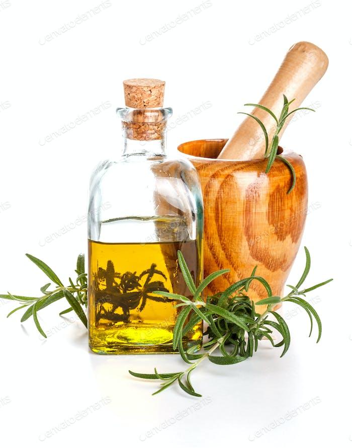 Rosemary oil bottle