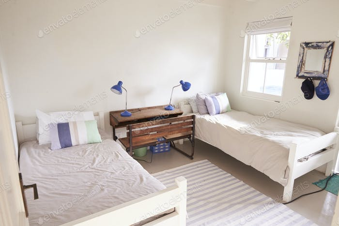 Interior View Of Beautiful Light And Airy Child's Bedroom