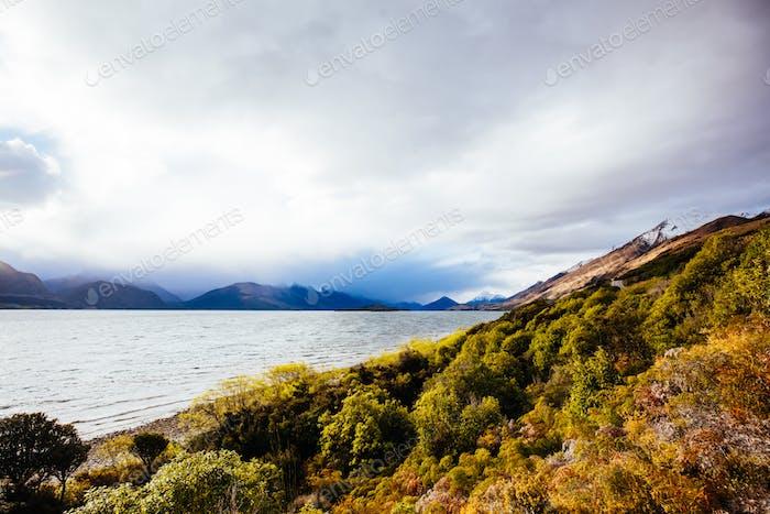 Lake Wakatipu in der Nähe von Glenorchy in Neuseeland
