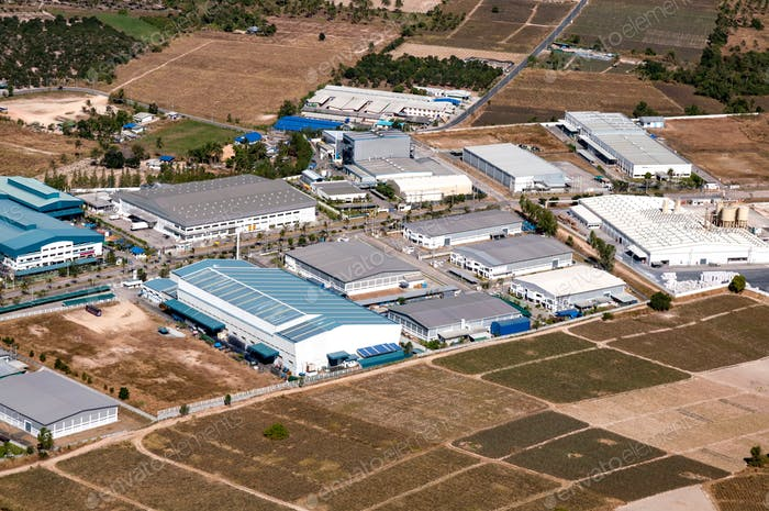 Industrial Estate Factories and Storage facilities