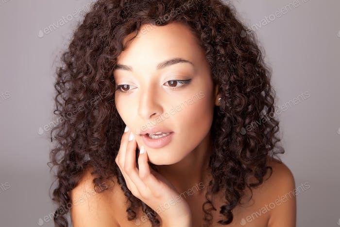 Portrait of a beuatiful mix race woman