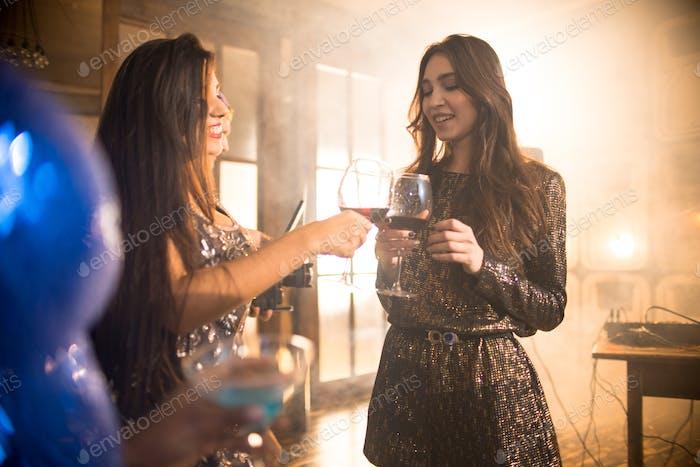 Beautiful Girls Enjoying Party