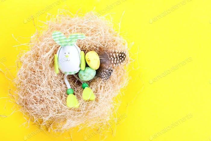 Easter background. Easter eggs