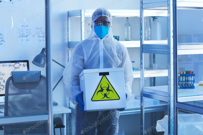 Laborotary Scientist With Biohazards