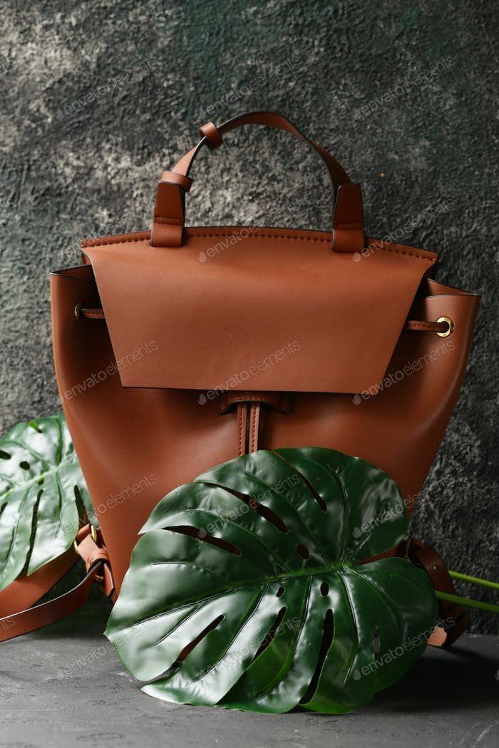 Organic Bag with Green Plants