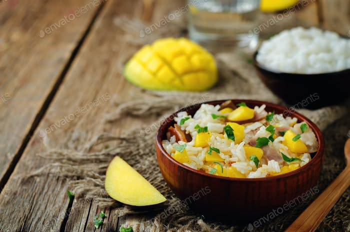 Bacon mango fried rice