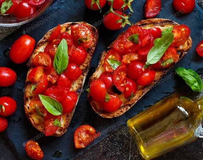 Homemade Italian Bruschetta