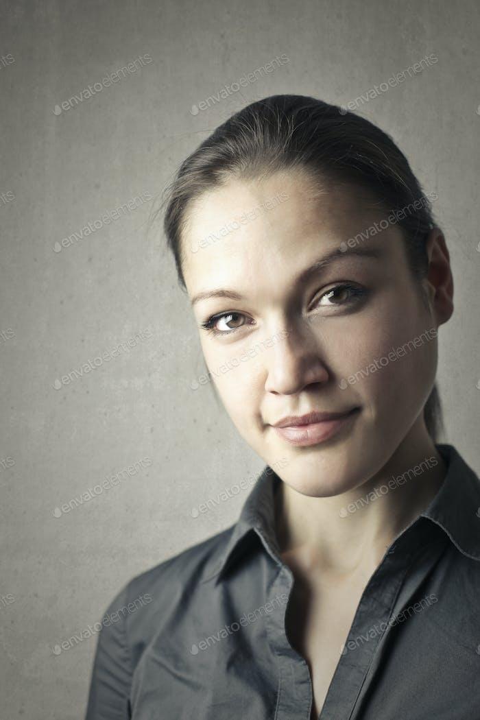 Portrait of a caucasian woman