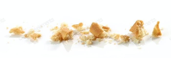 Cookie crumbs macro
