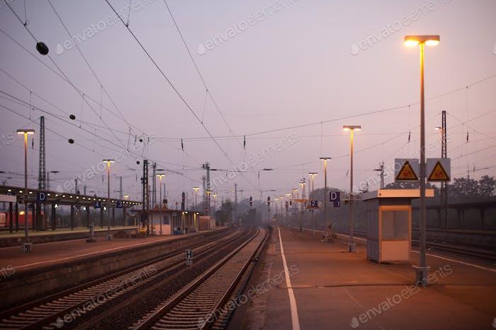 German train station platform