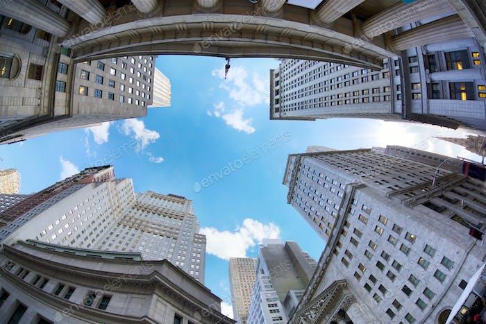 Wall Street skyscrapers