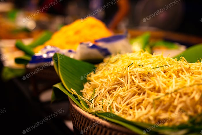 Closeup Of Sprouts On Banana Leaf