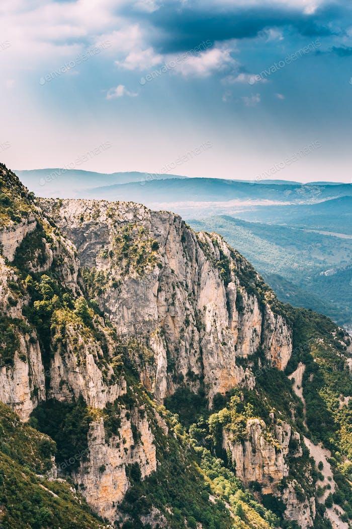 Landscape Of The Gorges Du Verdon In South-eastern France. Prove