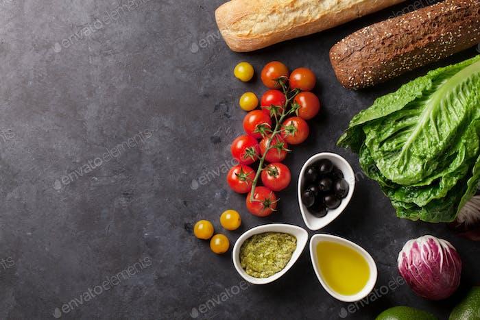 Kochen von Lebensmittelzutaten