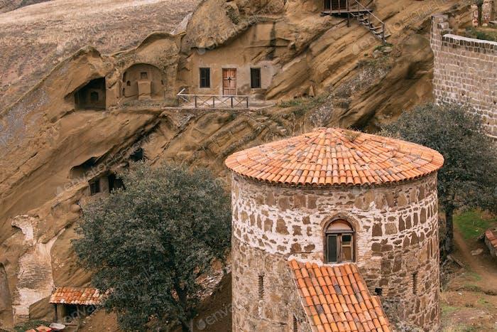 Kakheti Region, Georgia. Old Tower In Ancient Rock-hewn Georgian