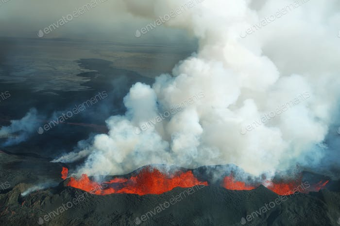 Bardarbunga volcano eruption in Iceland