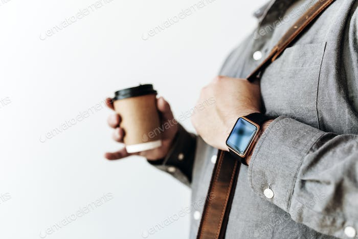Man with a coffee