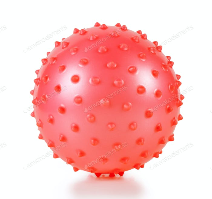 The red ball with spikes