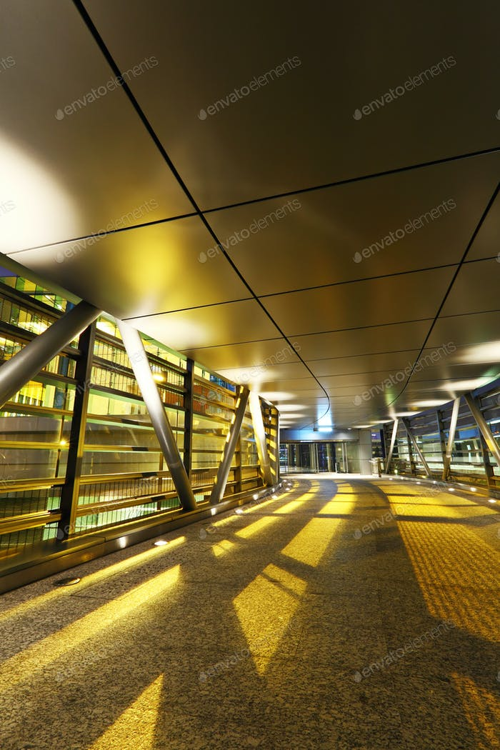 modern flyover at night