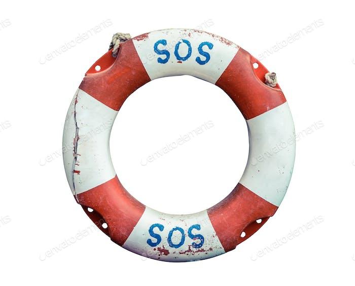 Isolated SOS Lifebuoy