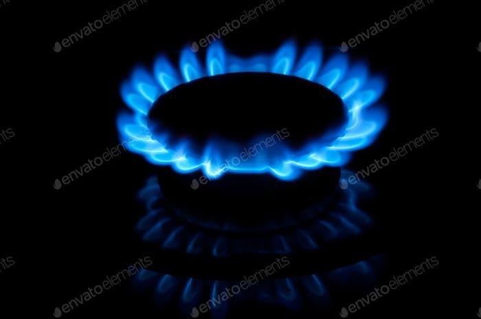 Blaue Gasflammen