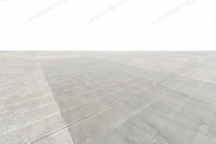 concrete floor ground, parking lot of highway service area