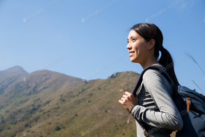 Woman go hiking
