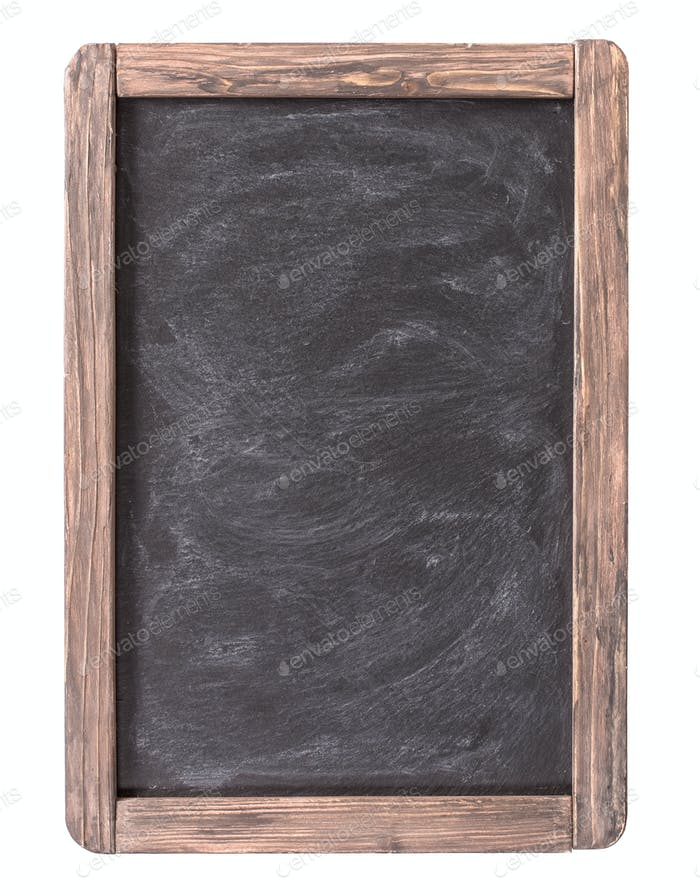 Rustic slate menu blackboard isolated