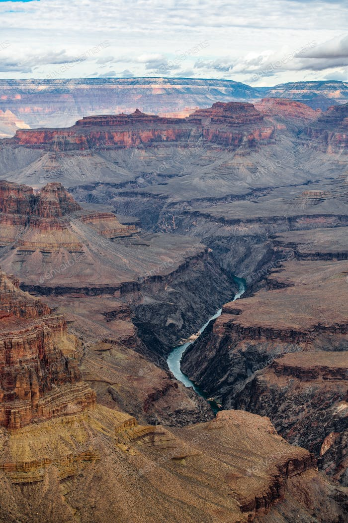 Grand canyon landscape and Colorado river, USA