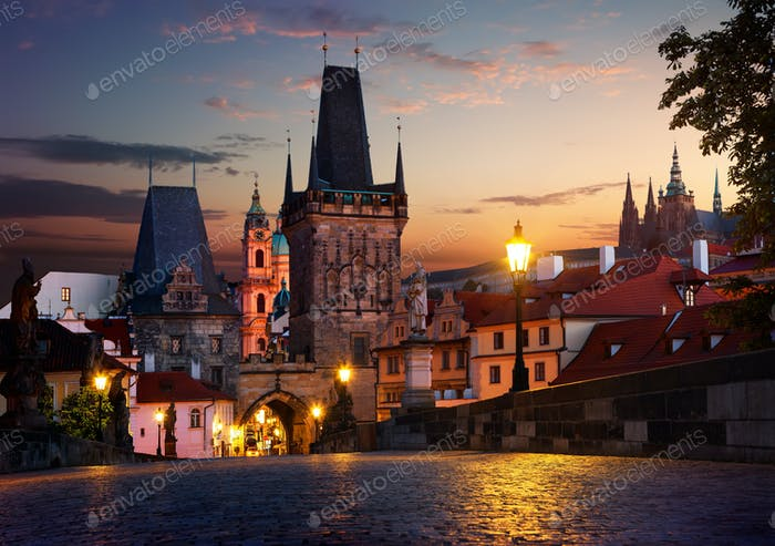 Tower of the Charles bridge