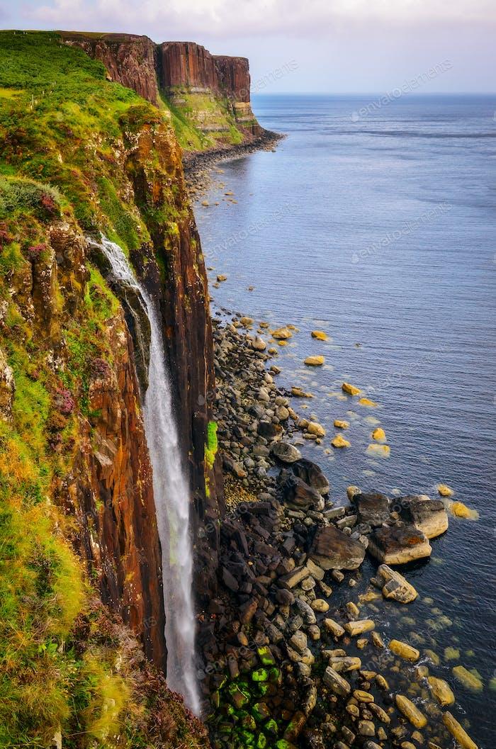 Kilt Rock Küste Klippe in schottischen Highlands, Schottland