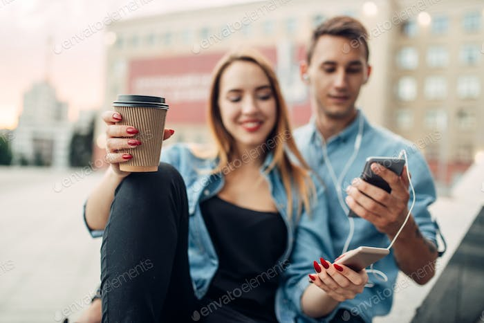 Phone addict youth cannot live without gadgets