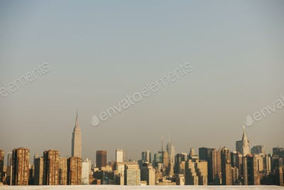 View of New York city at day time