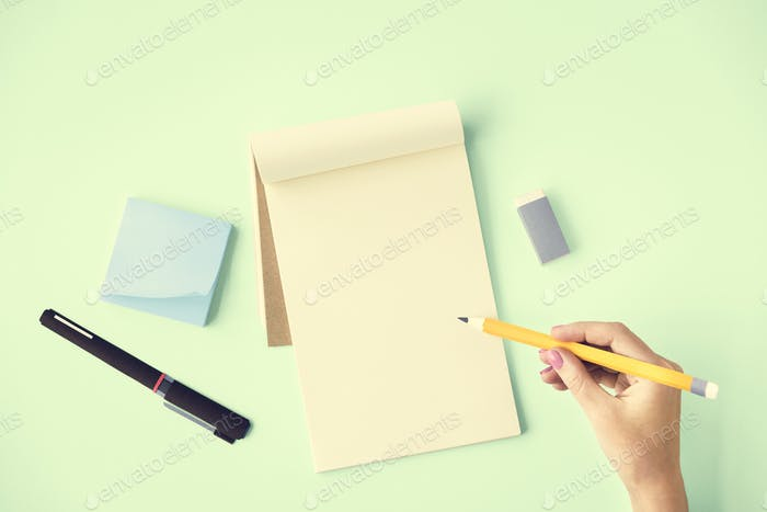Blank Mockup Empty Page Diary Copy Space Concept