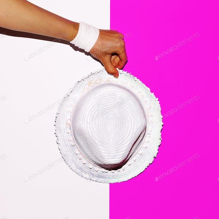 Beach vibration. Hat. Minimal art design