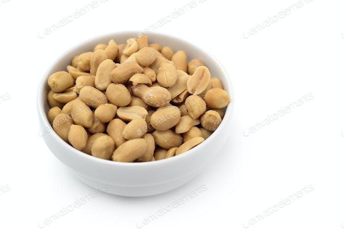 bowl of peanuts