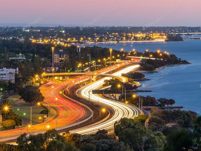 Evening Traffic in Perth