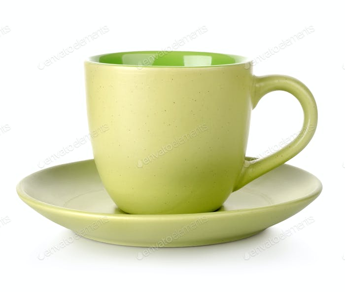 Green cup and saucer