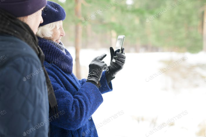 Senior Woman using Video Chat