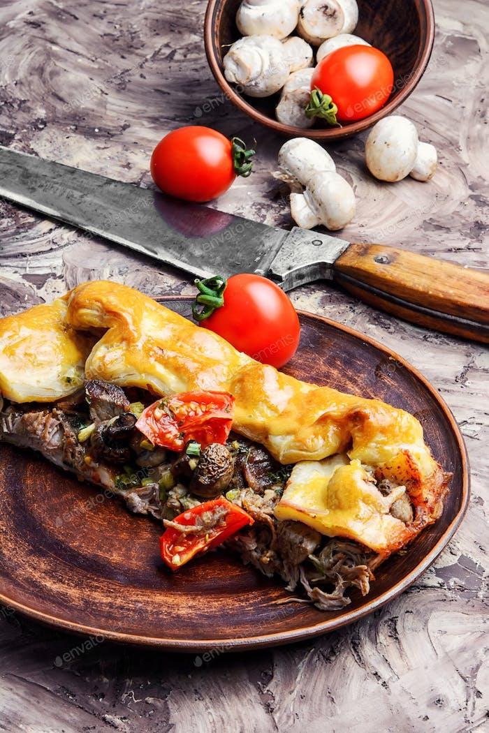 Portion Fleischkuchen