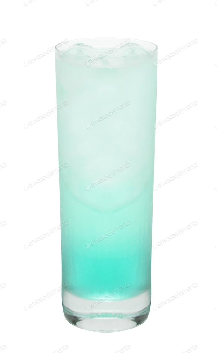 blue coctail drink isolated