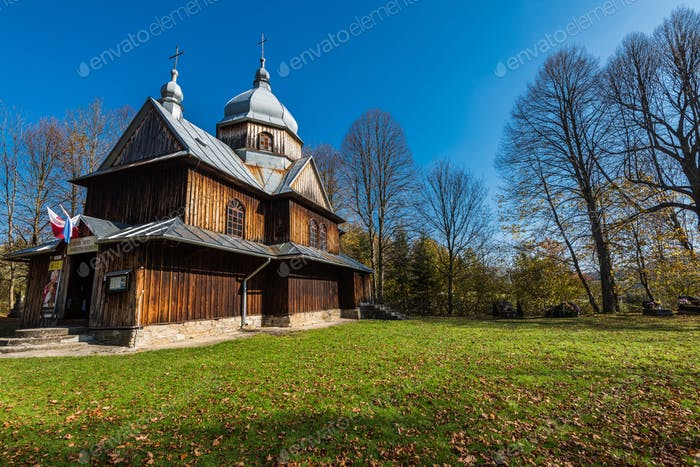 Orthodox wooden church in Chmiel,Bieszczady,Poland