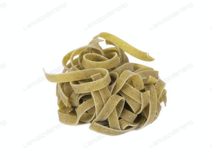 Tagliatelle italian pasta.