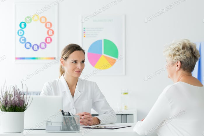 Doctor happy with patient's progress