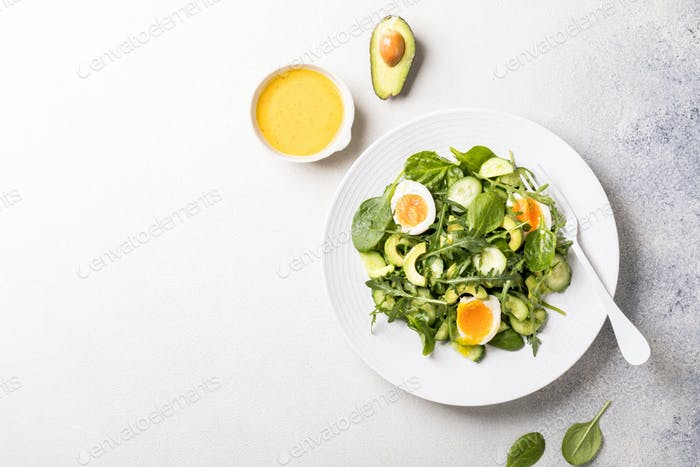 Salad with sauce.Healthy diet, vitamins for immunity.
