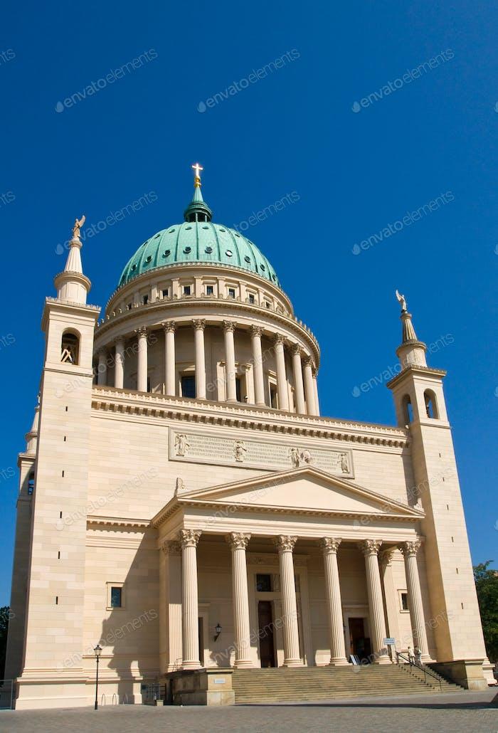The reconstructed St. Nikolaikirche in Potsdam