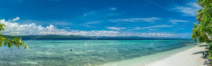 Beach on Kri Island, Raja Ampat, Indonesia, West Papua
