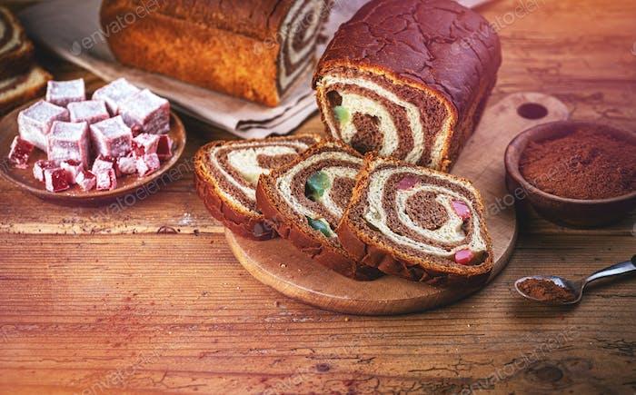 Romanian traditional sweet bread
